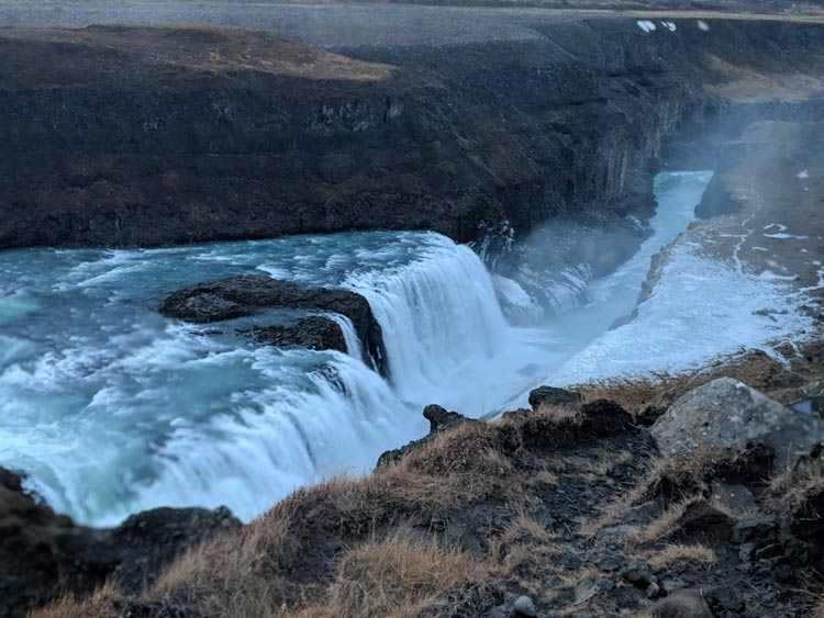 Waterfall in Iceland. Photo by Logan Harvey