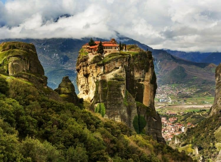 The amazing monasteries in Meteora Greece are a must-see when you tour the Balkans