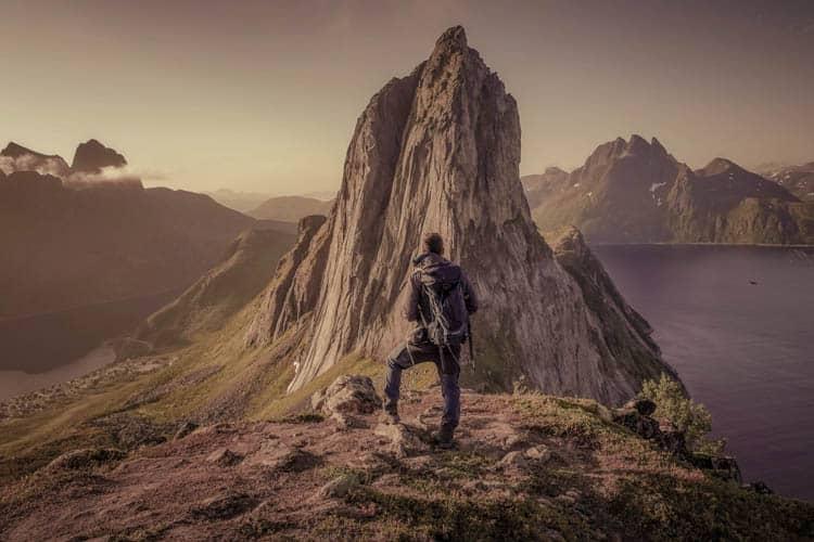 Norway Famous Segla mountain in Senja, just one hour drive from Tromsø.