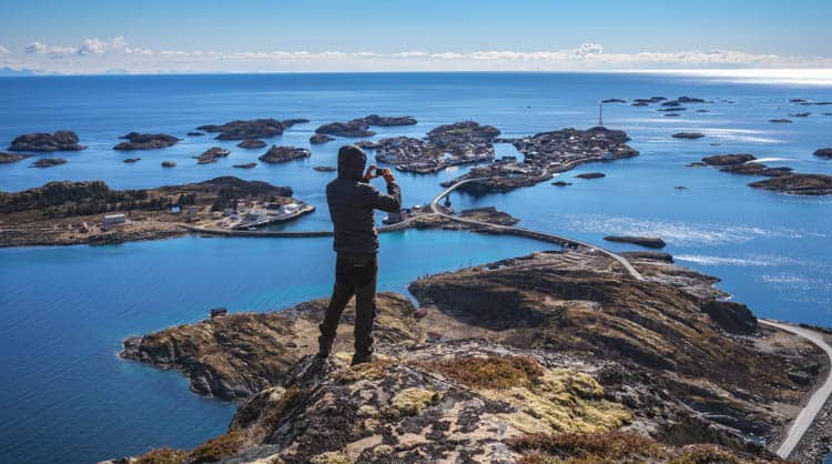 Hiking opportunities in Norway wherever you look (Henningsvaer)