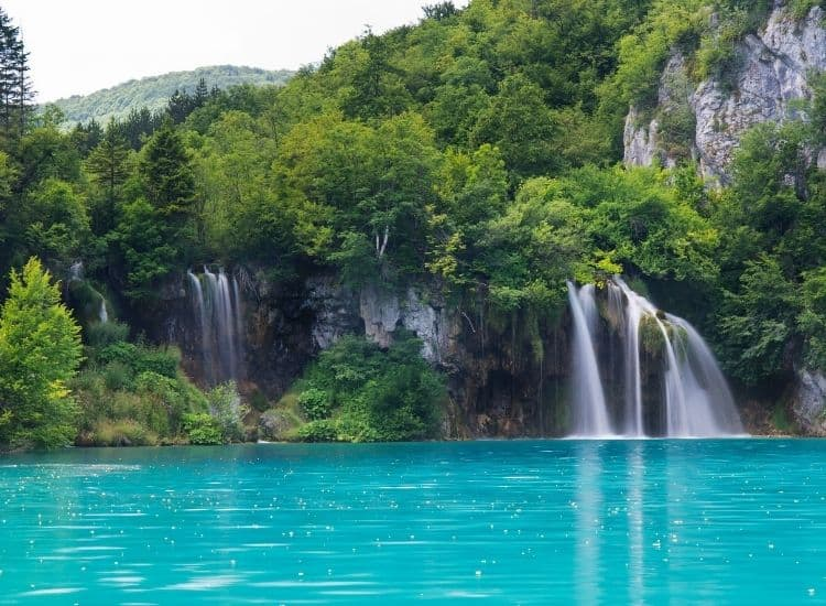 The waterfalls at Plitvice National Park in Croatia