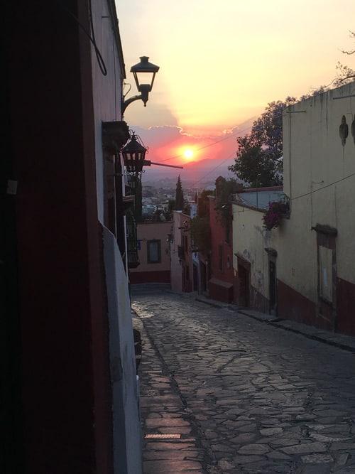Cobblestone streets in San Miguel de Allende