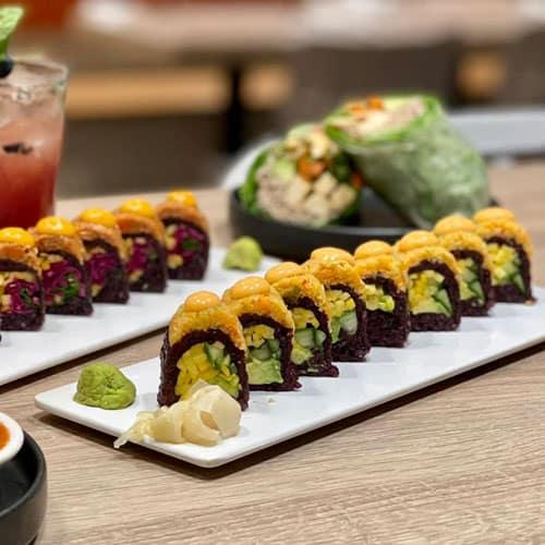 Vegan Spicy Mang Sushi Roll