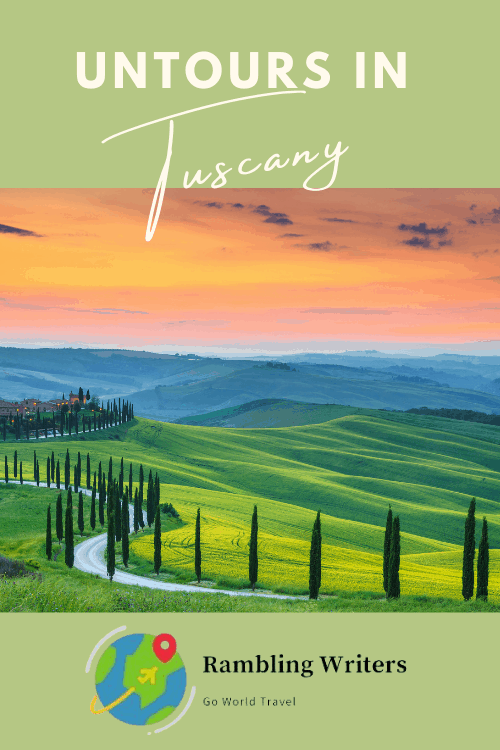 A UNTOUR through Italy's Tuscan countryside is a whirlwind adventure filled with vino and vistas, endlessly explorable hill towns, narrow streets traversing centuries of history, vineyards galore, palate-enhancing feasts and welcoming companions. #TuscanyUNTOUR #TuscanyItaly