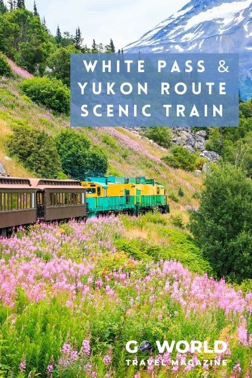 Board the White Pass and Yukon Route train for spectacular scenery and take a trip back to the days of the Gold Rush on the Skagway Railroad.  #Whitepass #Skagwayrailroad #scenictrain #whitepassandyukonroute #alaskatravel