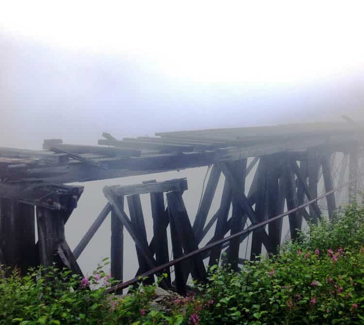 The Ghost Bridge along the White Pass and Yukon Route was once the tallest cantilever bridge in the world.
