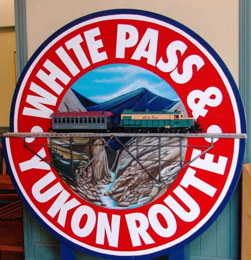 White Pass and Yukon Route Sign.