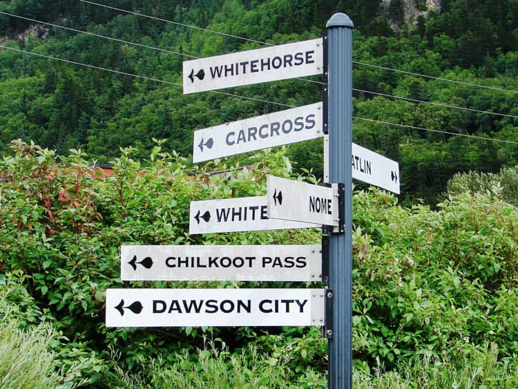 White Pass and Yukon Route Skagway Destination Sign