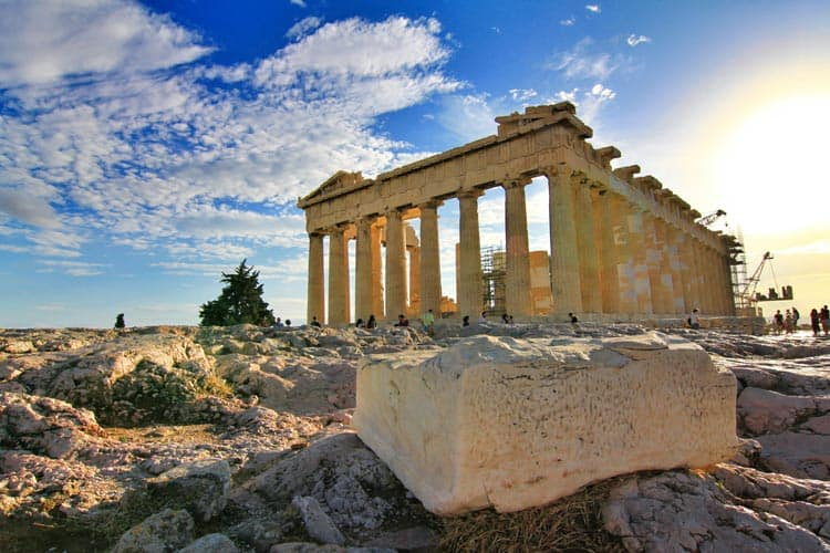 Parthenon and other ruins in Athens, Greece