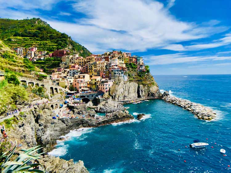 The cliff-side city of Cinque Terre