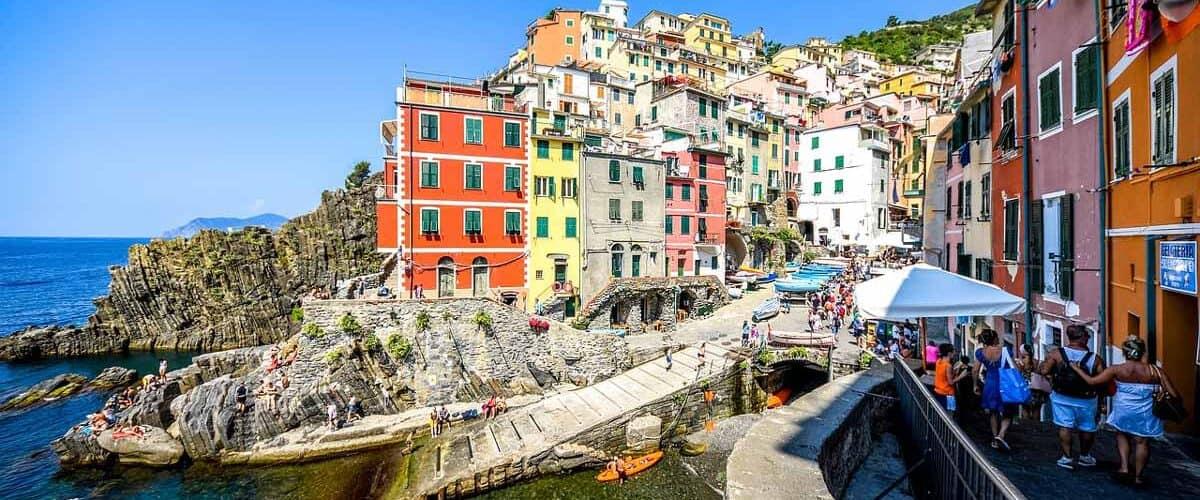The coast of Cinque Terre in Italy