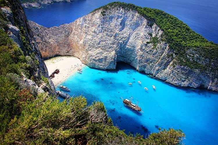 Inlet beach at Corfu, Greece