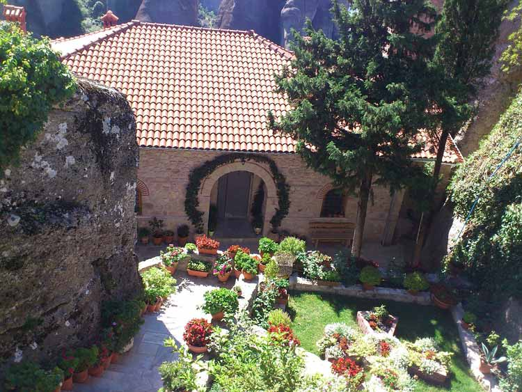 The courtyard on the cliff