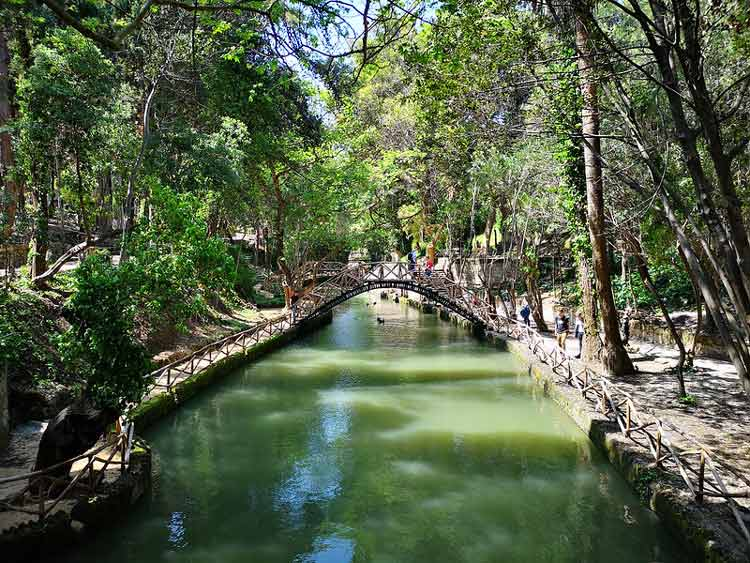 Relax by the shaded rivers on Rhodes, Greece