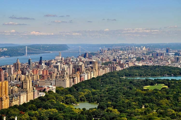 Overlooking Central Park and Manhattan