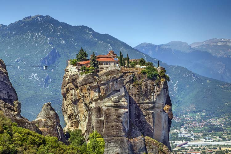 Secluded mountain-top monastery