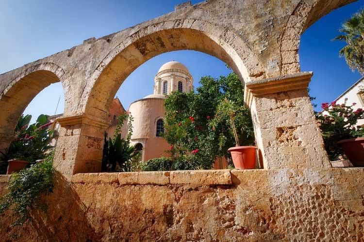 Rustic architecture in Crete