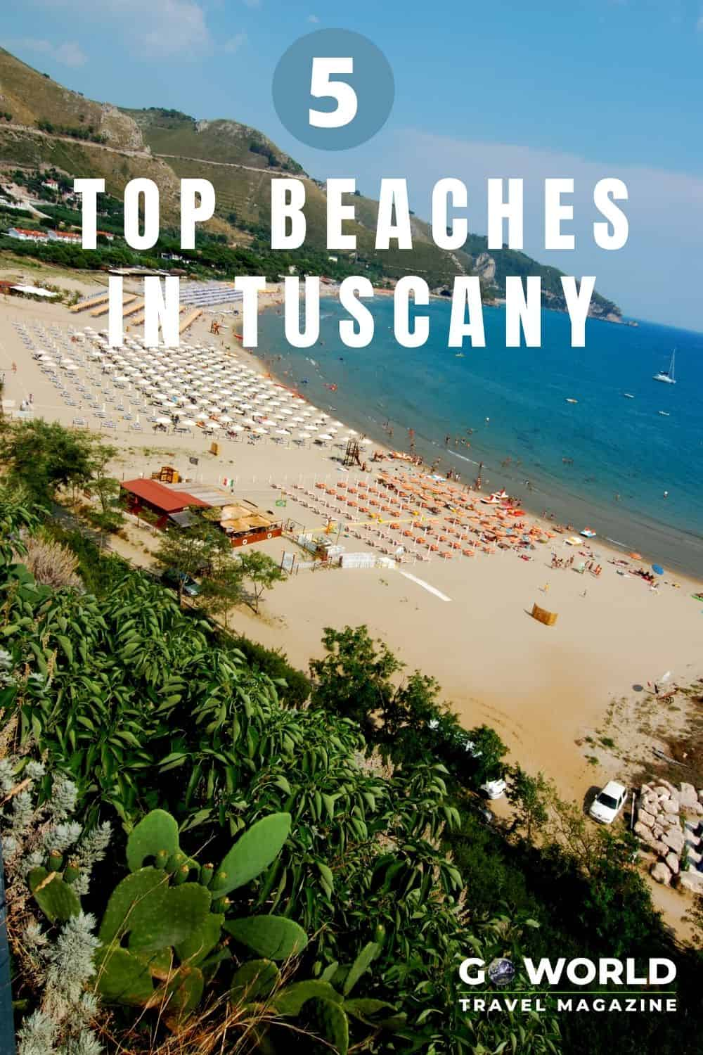 Discover these top 5 beaches in Tuscany and add a trip to the gorgeous Riviera coastline to your Italian vacation! #Tuscany #Beachvacation #Italy #ItalianRiviera