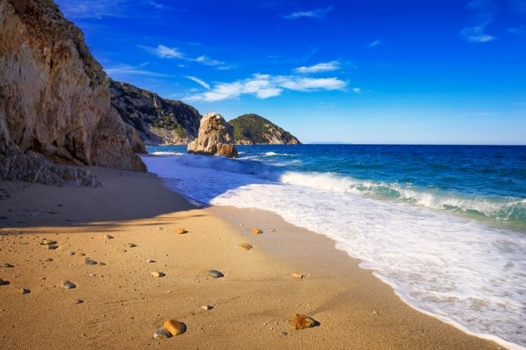 Beautiful Sansone Beach in Tuscany