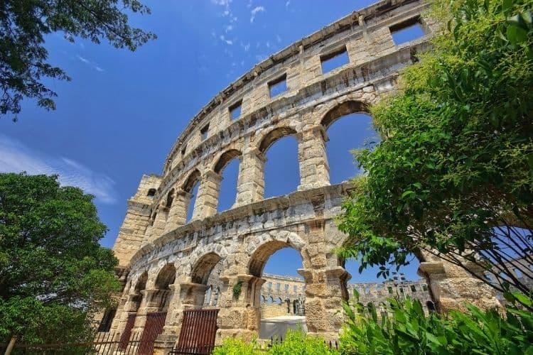 Roman Ruins in Pula Croatia