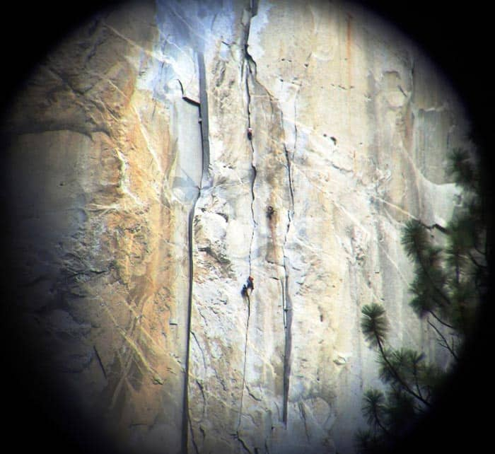 You need binoculars to see the climbers on El Capitan in Yosemite National Park. Photo by Erin Donalson/Dreamstime.com