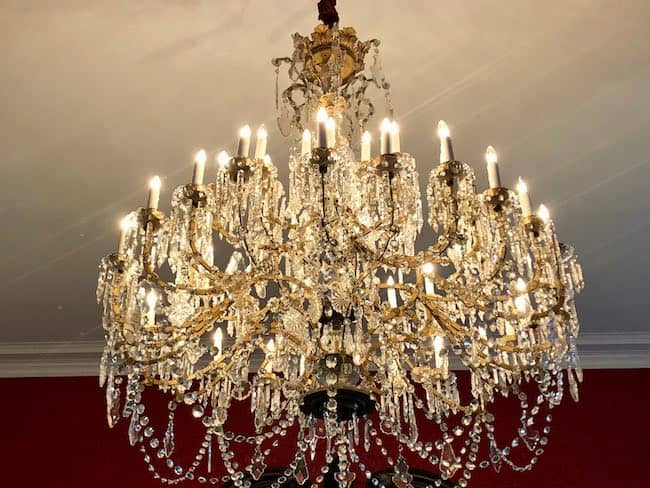 Gone with the Wind chandelier. Photo by Claudia Carbone