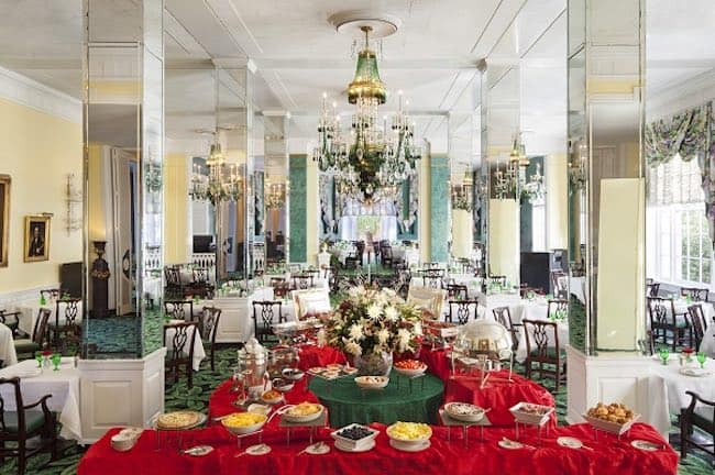 Main Dining Room at The Greenbrier. Photo courtesy of The Greenbrier