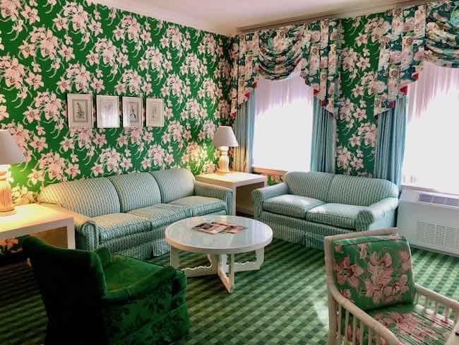 Sitting room of my suite in Draper style. Photo by Claudia Carbone
