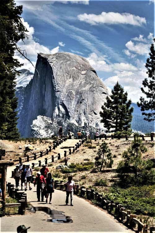 Glacier Point's view of the famous Half-Dome in California's Yosemite National Park is breathtakingly beautiful. Photo by Pneison/Dreamstime.com