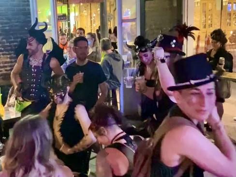 Bourbon Street New Orleans dancers