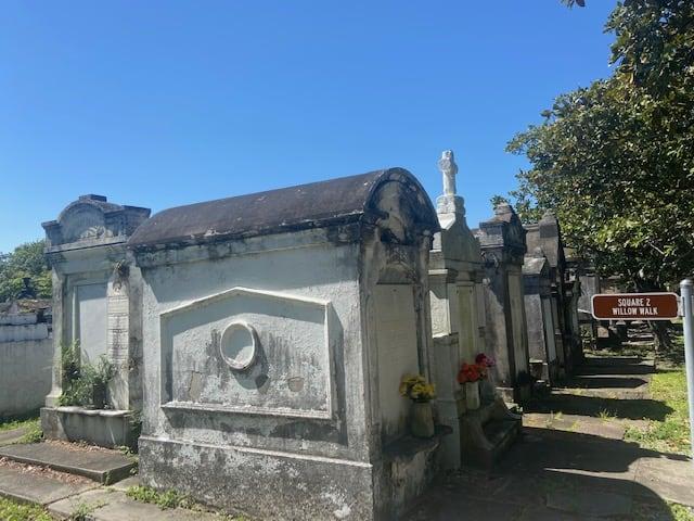 Historic cemetery Garden District New Orleans