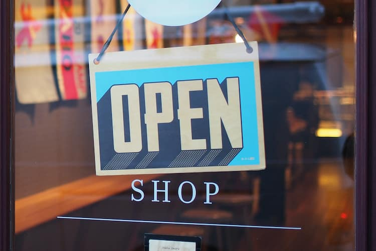 Open Shop Sign by Mike Petrucci