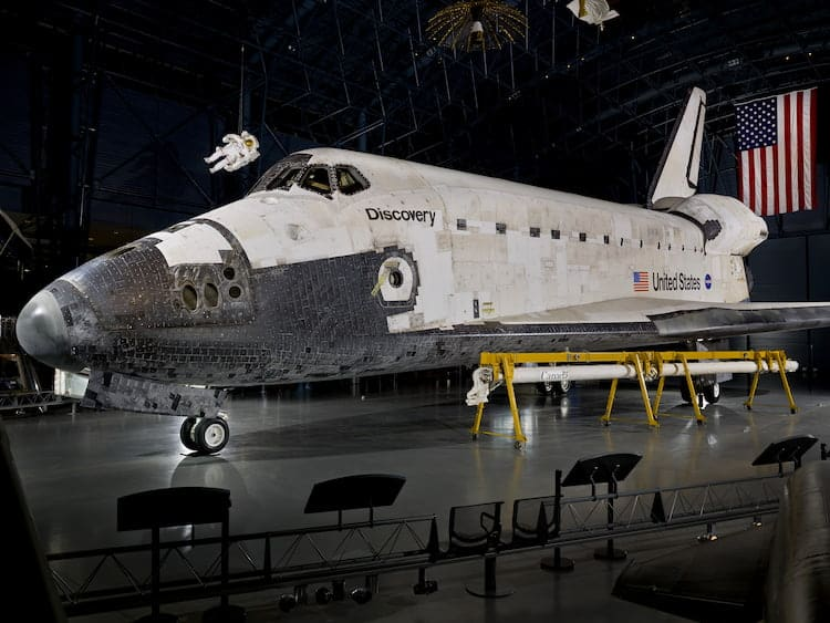 5 Reasons to Visit the Kennedy Space Center: Space Shuttle Discovery Courtesy of the Smithsonian #Discovery #SpaceShuttle #Astronaut #Space