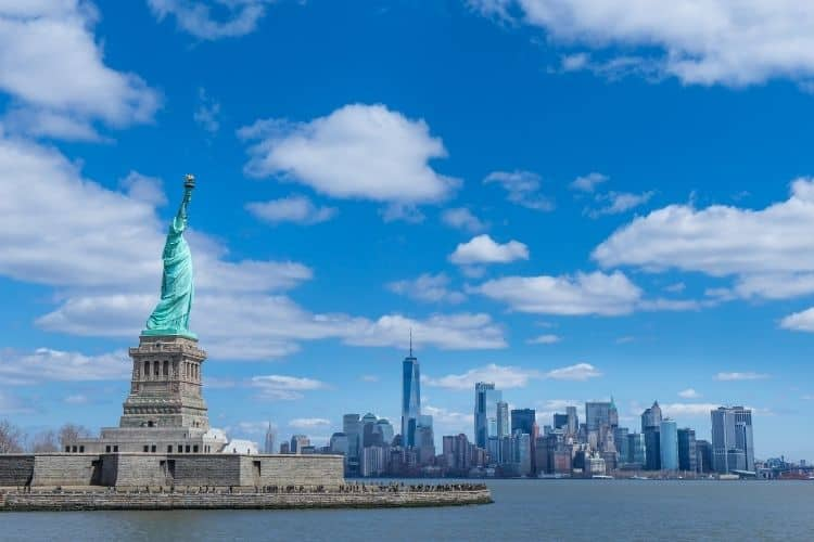 Visiting the Statue of Liberty