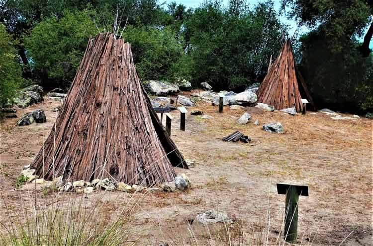 Native American teepees at the Coarsegold Historic Museum. Photo by Victor Block