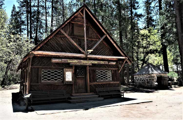 Wells Fargo Office at the Pioneer Yosemite History Center. Photo by Victor Block