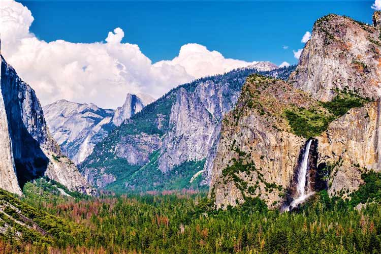 California's Yosemite Falls in one of the largest falls in North America. Photo courtesy of Visit Yosemite/Madera County
