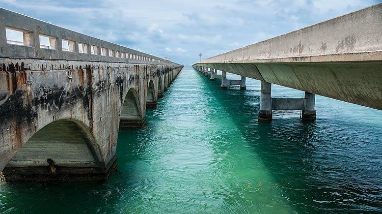 Seven Mile Bridge in the Florida Keys