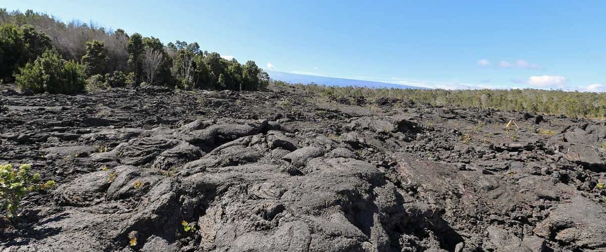 Cooled lava flows at Hawaii Volcanoes National Park