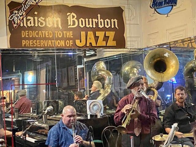 Bourbon street new orleans jazz