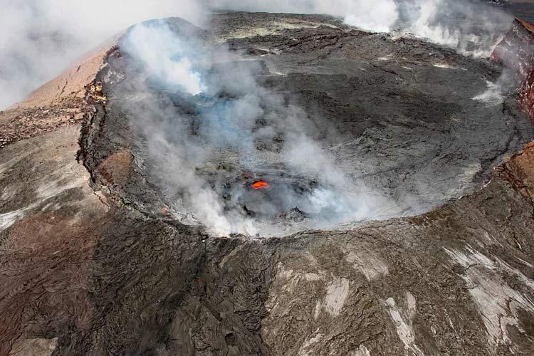 Top of Kilauea volcano in Hawaii