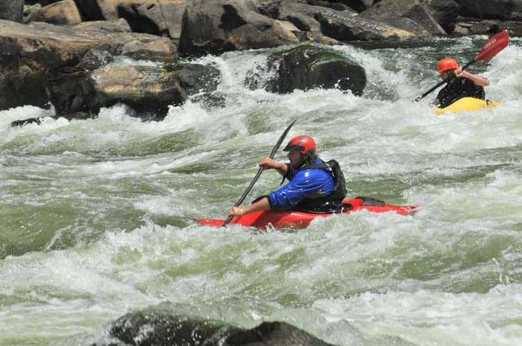 White water kayaking on the New River