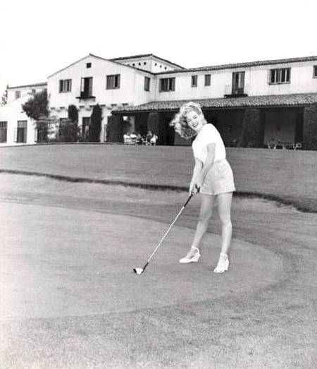 Marylin Monroe on Brentwood CC's ninth green
