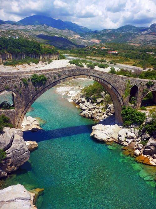 Shkoder-Mesi Footbridge in Albania
