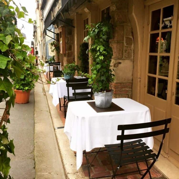 An intimate place to dine in one of France's small towns. Photo by Janna Graber