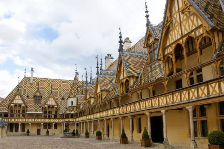 Hospice de Beaune in Bourgogne Wine Region of France
