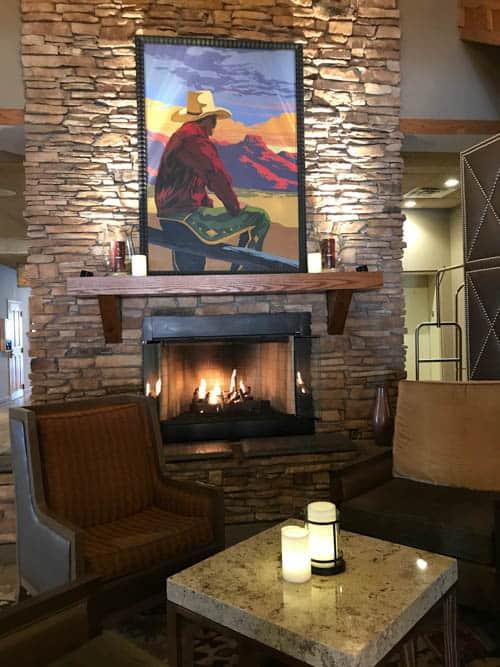 The Golden Hotel lobby in Colorado