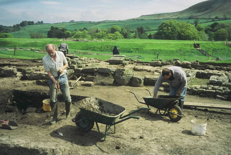 Excavating of Hadrian's Wall