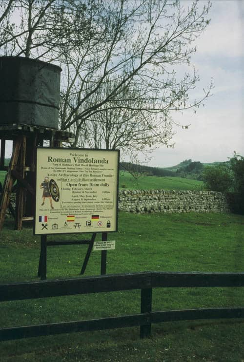 Vindolanda sign at Hadrian's Wall