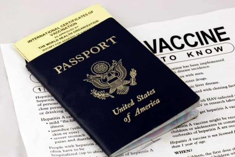 Post pandemic travel vaccination